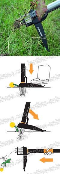 d sherbeur t l scopique cologique fiskars outil de jardin ecologique. Black Bedroom Furniture Sets. Home Design Ideas