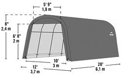 garage d montable en toile de larg x long haute qualit mobilier de jardin. Black Bedroom Furniture Sets. Home Design Ideas