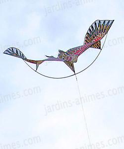 effaroucheur epouvantail oiseau cerf volant avec m t protection des r coltes. Black Bedroom Furniture Sets. Home Design Ideas