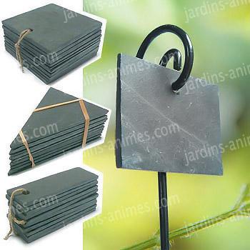 etiquette ardoise rectangulaire etiquette et support ardoise. Black Bedroom Furniture Sets. Home Design Ideas