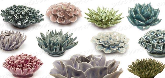 fleur corail d corative en c ramique figurines d coratives. Black Bedroom Furniture Sets. Home Design Ideas