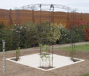 Kiosque de jardin tonnelle 4 pieds - Arches Kiosque et Marquise