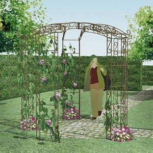 Kiosque de jardin tonnelle 5 pieds - Arches Kiosque et Marquise