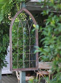 décoration jardin miroir