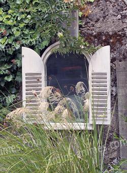 Jardins anim s jardin d co meubles et plein air mobilier de jardin miroir en bois 2 portes - Miroir exterieur jardin ...