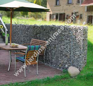 mur gabion 180x110x20cm gabion mur et cage. Black Bedroom Furniture Sets. Home Design Ideas
