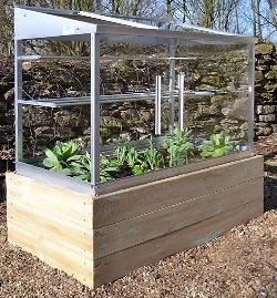 Mini serre en verre et aluminium serre jardin - Petit jardin potager facile aulnay sous bois ...