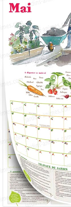 calendrier 2015 du potager bio jardinez avec la lune librairie jardin bio. Black Bedroom Furniture Sets. Home Design Ideas