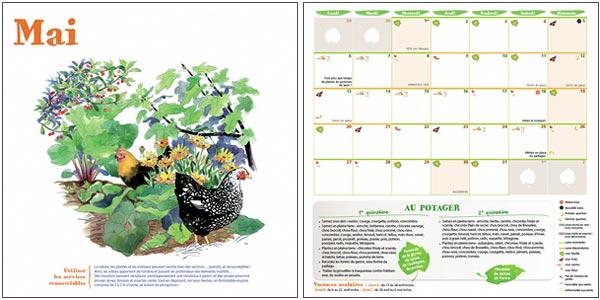 calendrier 2019 du potager bio jardinez avec la lune livres jardin bio. Black Bedroom Furniture Sets. Home Design Ideas