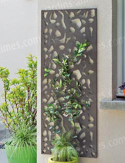 Panneau d coratif en m tal x cloture et for Panneau de bois decoratif interieur