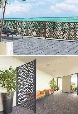 panneau d coratif mosaic 1m x 2m en r sine haute qualit cloture et occultation. Black Bedroom Furniture Sets. Home Design Ideas