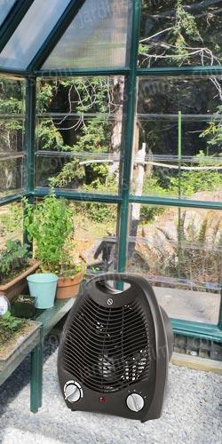 chauffage lectrique 2kw pour serre serre jardin accessoires. Black Bedroom Furniture Sets. Home Design Ideas
