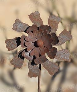 Tuteur Fleur decorative en fer forgé - Tuteurs Décoratifs