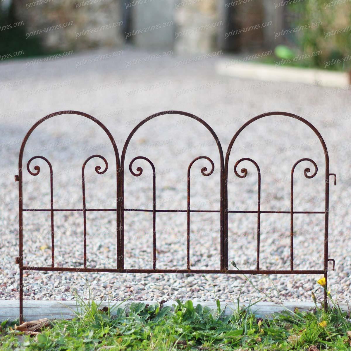 Bordure arceaux en fer brut bordure de jardin - Bordure metallique jardin ...