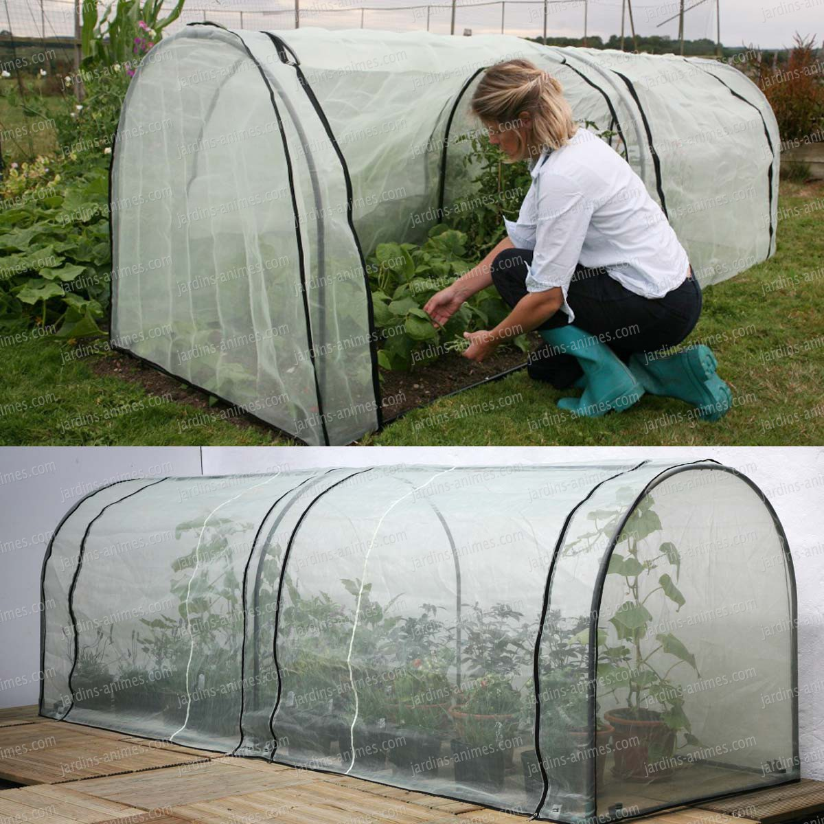 Mini serre tunnel portable et bache micro a r e anti insecte tunnel chassis cloche for Faire une mini serre de jardin