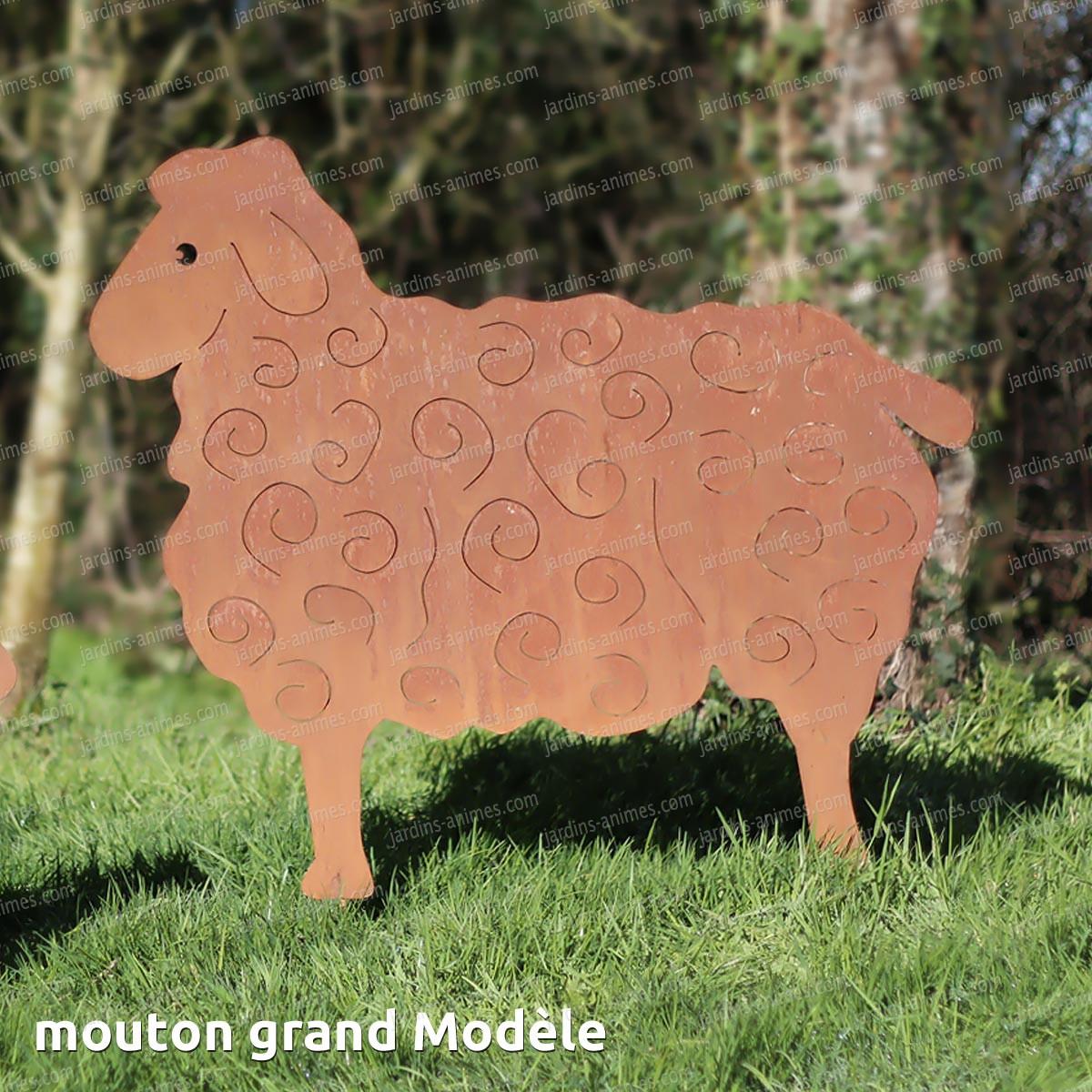 Silhouette mouton grand mod le objet et silhouette d co en m tal - Deco jardin mouton toulon ...