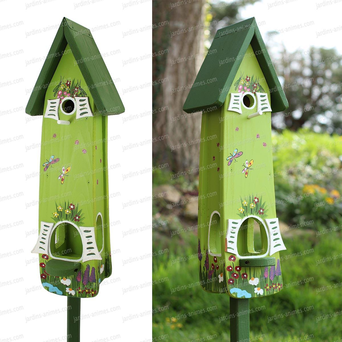 nichoir et mangeoire jardin magique vert nichoirs pour. Black Bedroom Furniture Sets. Home Design Ideas