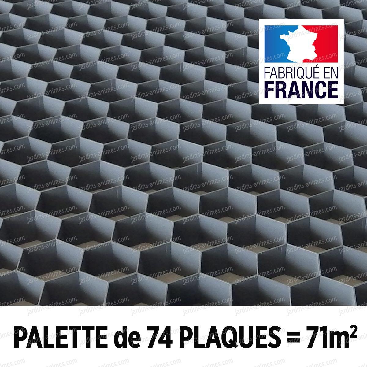 Palette Stabilisation Gravier Nidagravel Gris 120x80cm X