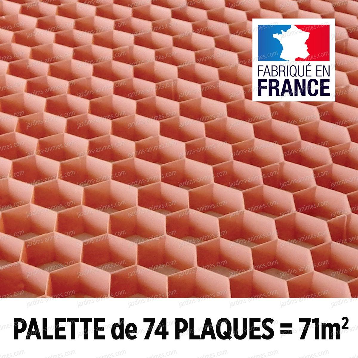 palette stabilisation gravier nidagravel rose 120x80cm x 74 plaques 71m2 all e. Black Bedroom Furniture Sets. Home Design Ideas