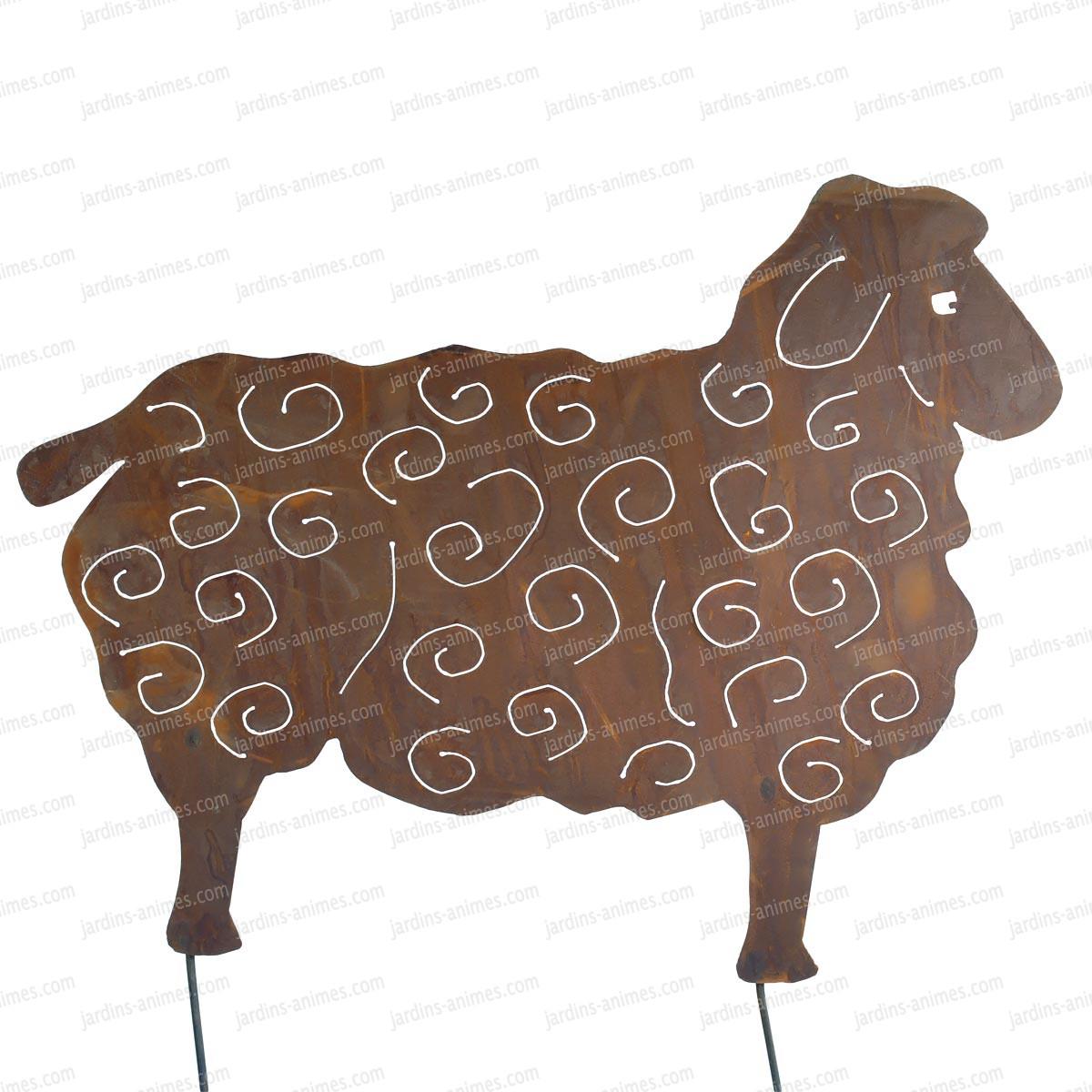 Silhouette mouton petit modele objet et for Objet deco jardin metal