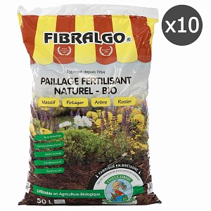 Lot de 10 sacs Fibralgo - Paillage fertilisant bio