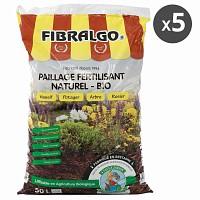 Fibralgo paillage fertilisant bio - lot de 5 sacs