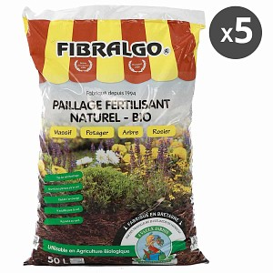 Fibralgo paillage fertilisant bio - lot de 5 sacs