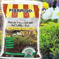 Fibralgo - paillage fertilisant - Lot de 5 sacs