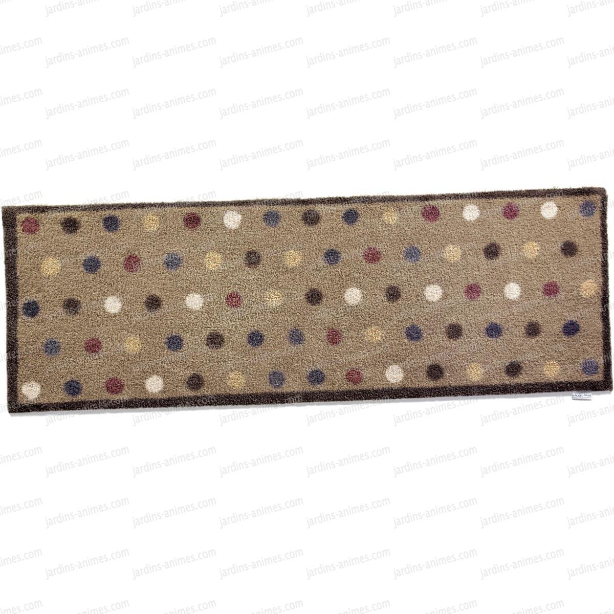 modu00e8le en longueur : Dim. 65x150cm - tapis avec ronds de couleur, sur ...