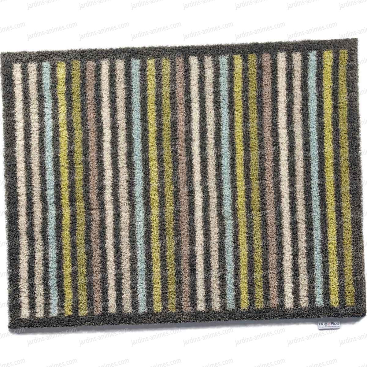 paillasson motif stripe12 100 recycl 65x85cm paillasson nettoie bottes. Black Bedroom Furniture Sets. Home Design Ideas