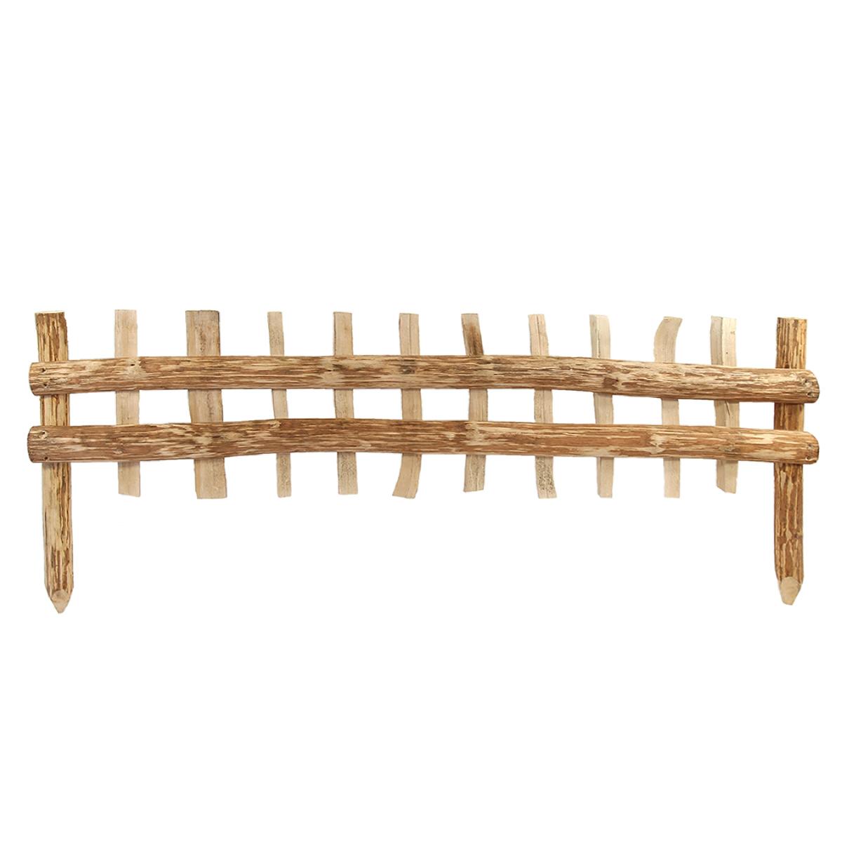 Cloture bois noisetier à planter L.120cm x H.50cm
