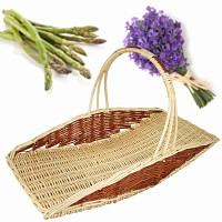 Panier à asperges et fleurs en osier