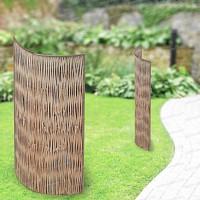 Panneau acier courbe Acacia 78cm x 180cm tress. vertical - Lot de 2