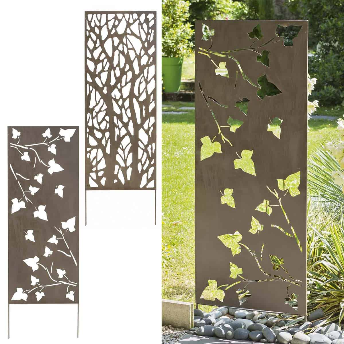 Decoration murale exterieur en metal - Panneau decoration murale design ...