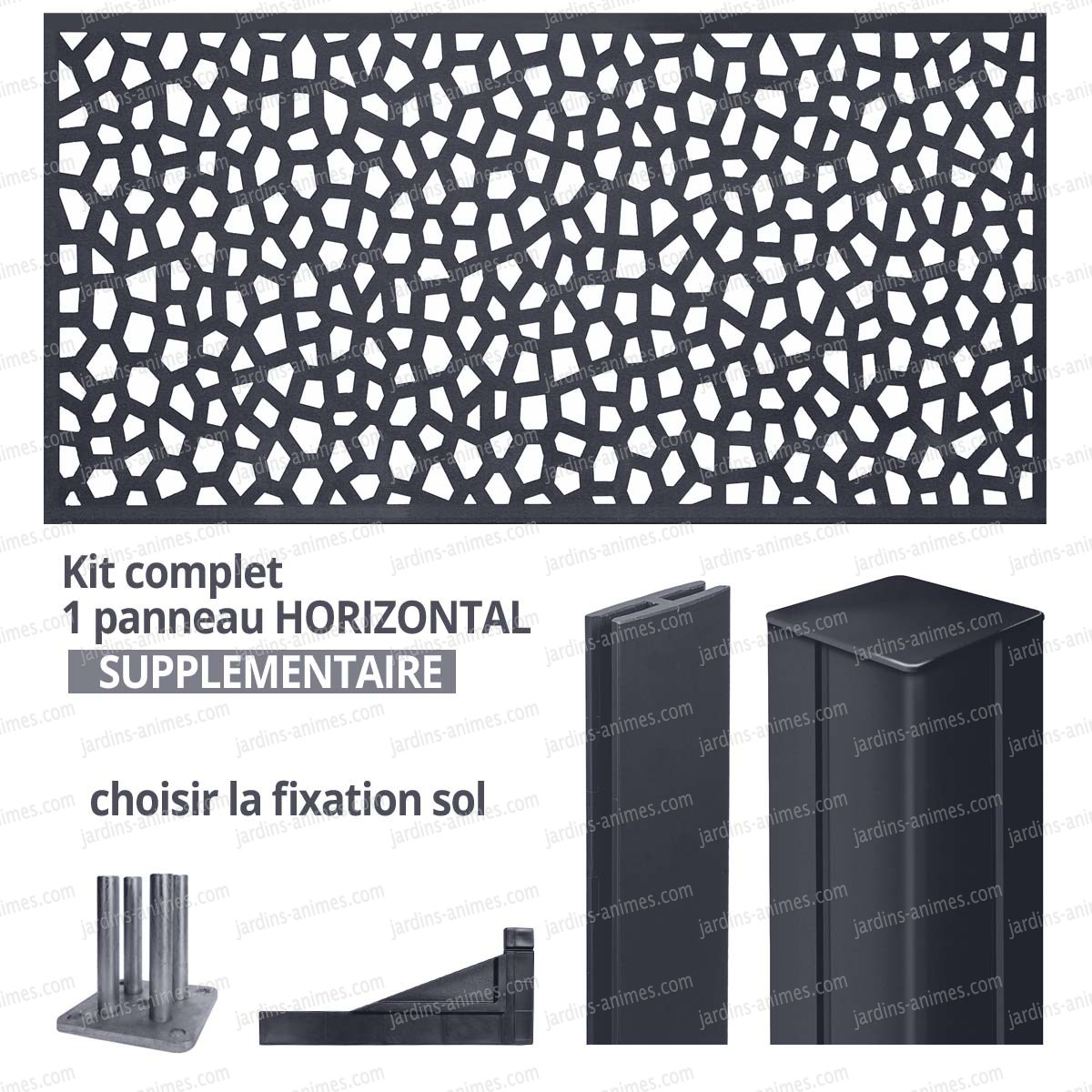 kit suppl mentaire panneau mosaic horizontal 2m x 1m en r sine haute qualit cloture et. Black Bedroom Furniture Sets. Home Design Ideas