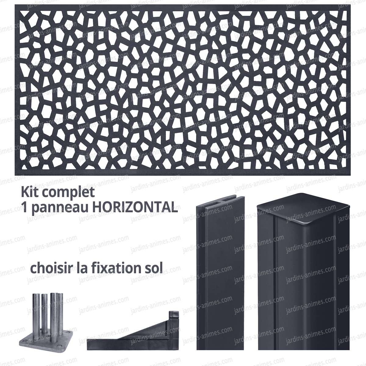 kit panneau d coratif mosaic horizontal 2m x 1m en r sine haute qualit cloture et occultation. Black Bedroom Furniture Sets. Home Design Ideas