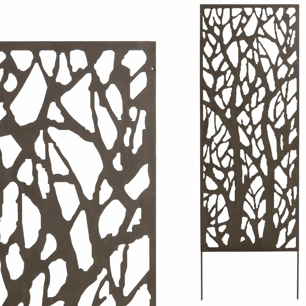 panneau d coratif branches x m tal cloture et occultation. Black Bedroom Furniture Sets. Home Design Ideas