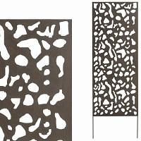 panneau d coratif aleatoire x m tal. Black Bedroom Furniture Sets. Home Design Ideas