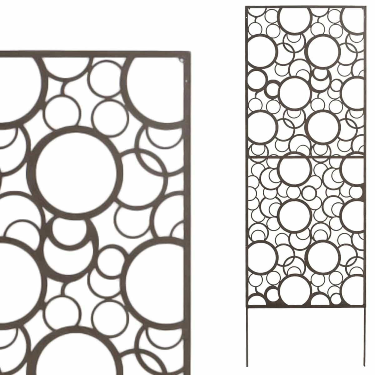 Panneau d coratif seventies x m tal cloture et occultation - Panneau decoratif jardin metal ...