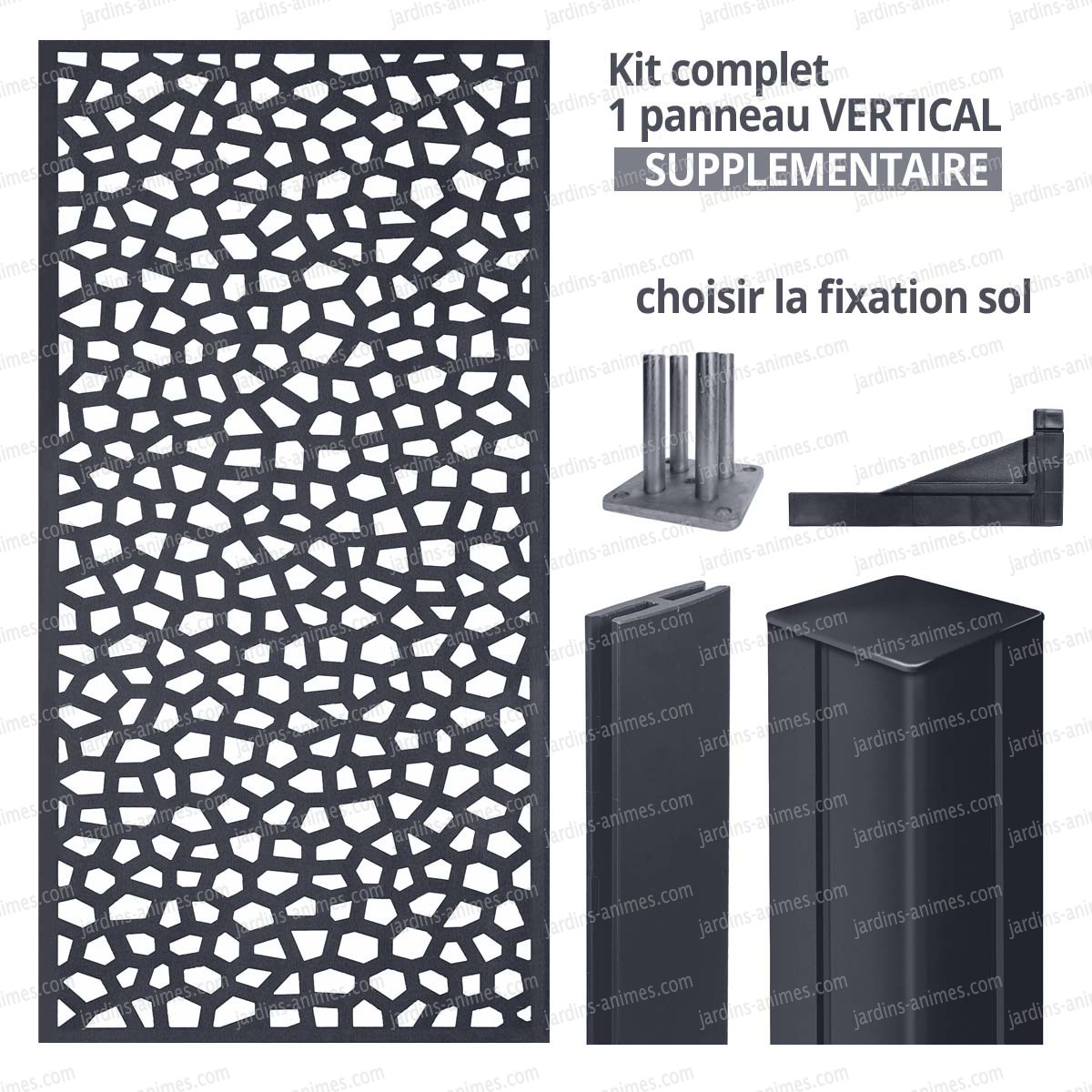 kit suppl mentaire panneau mosaic vertical 1m x 2m en. Black Bedroom Furniture Sets. Home Design Ideas