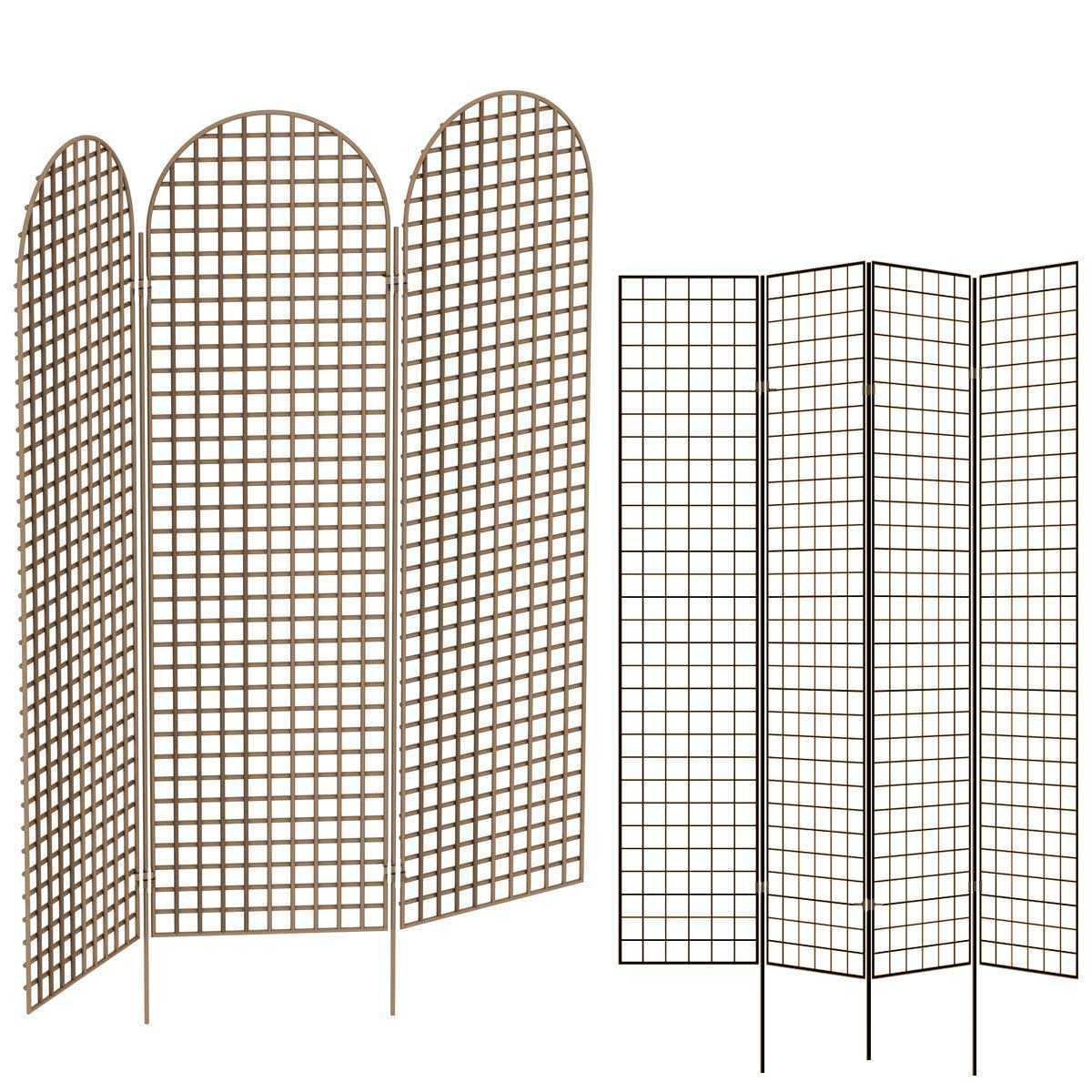 paravent de jardin en acier peint couleur marron cloture. Black Bedroom Furniture Sets. Home Design Ideas