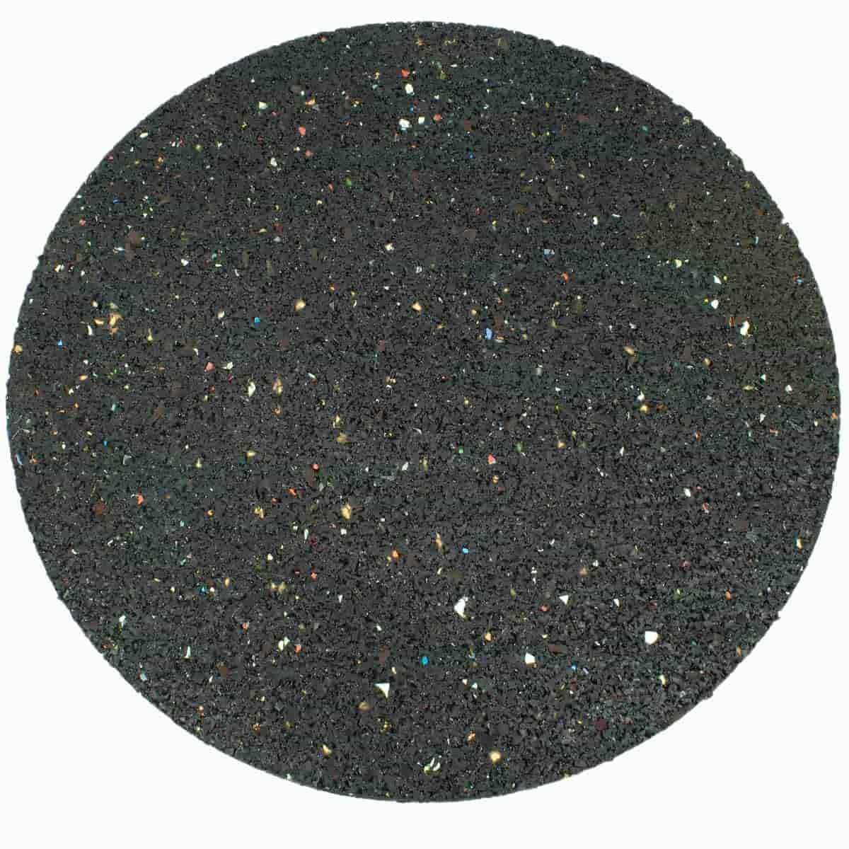 Dalle ronde caoutchouc recyclé noir - Allée, chemin, gravier