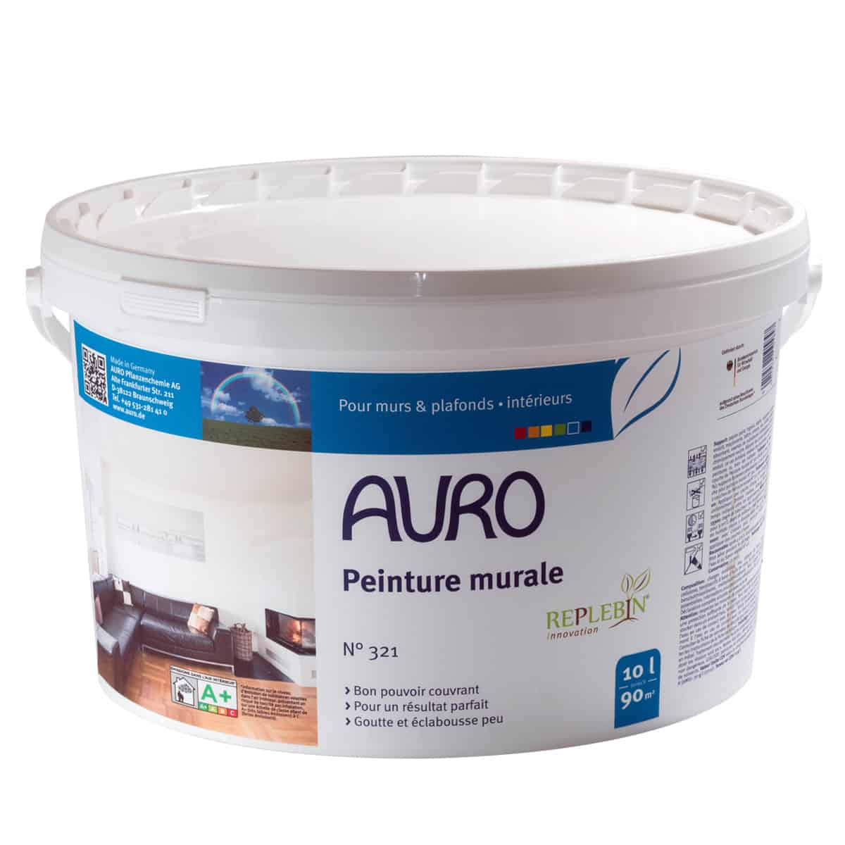 Peinture Murale Premium Blanche Bio Auro Plantadecor 524 10l