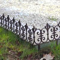 Bordure jardin décorative en fonte 26cm