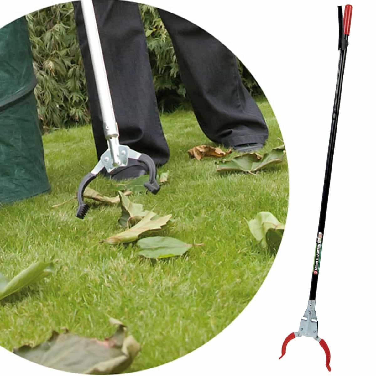 Pince ramasse d chets robuste outil entretien de la pelouse for Entretien outils jardin