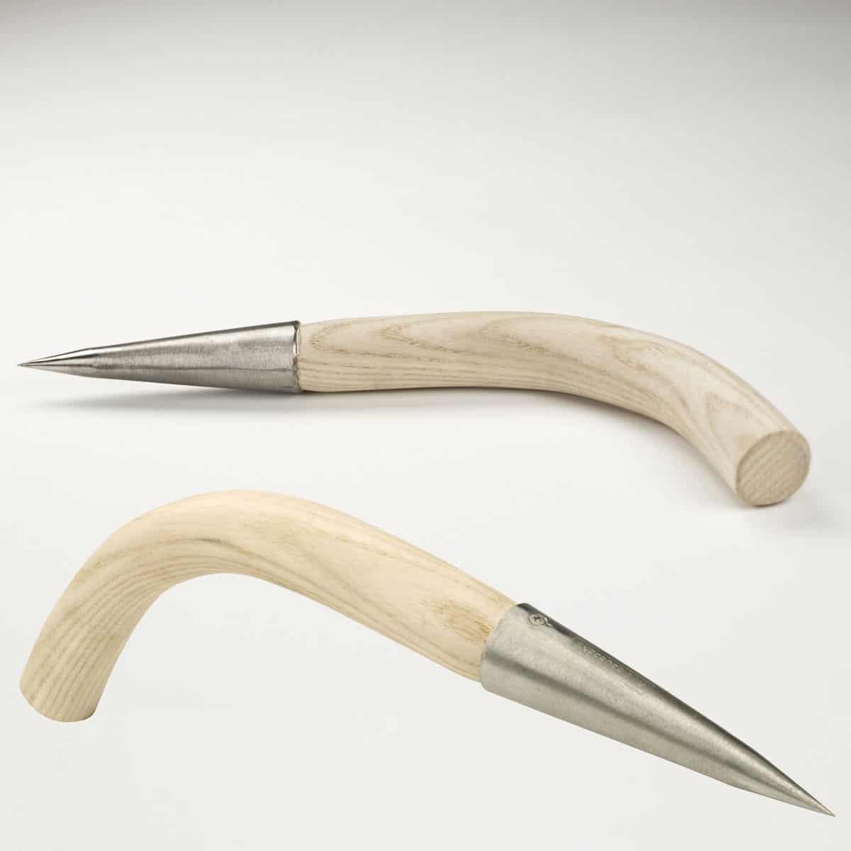 Plantoir bulbes courb en inox sneeboer outils une main sneeboer - Plantoir a bulbes ...