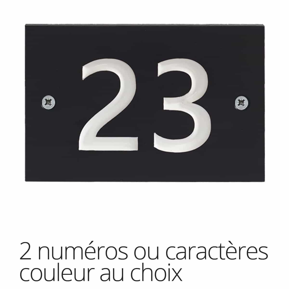 plaque num ro maison 2 caract res en plastique recycl. Black Bedroom Furniture Sets. Home Design Ideas