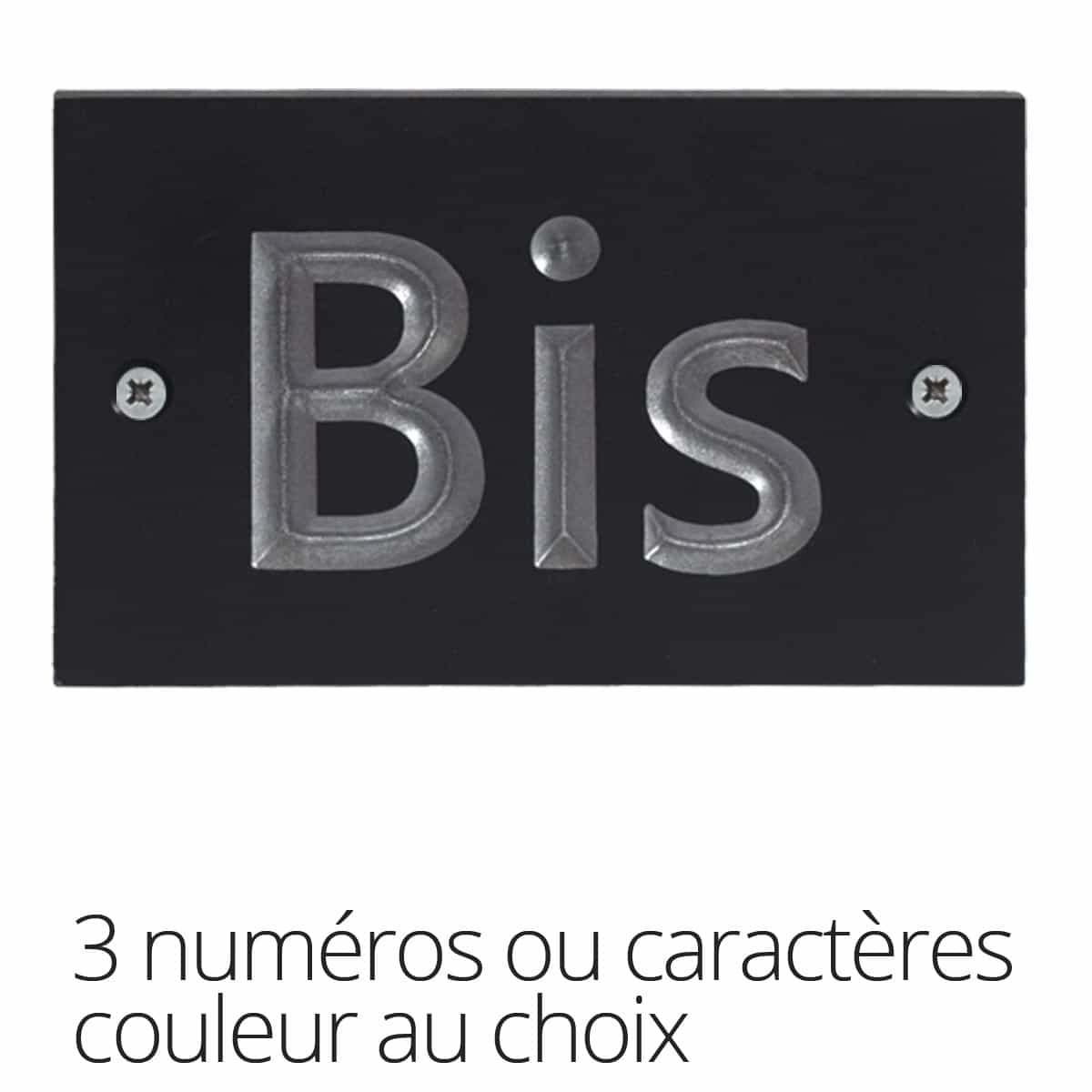 plaque num ro maison 3 caract res en plastique recycl signal tique num ro maison. Black Bedroom Furniture Sets. Home Design Ideas