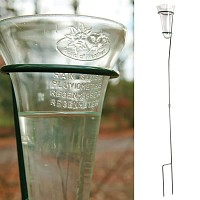 Pluviomètre en verre