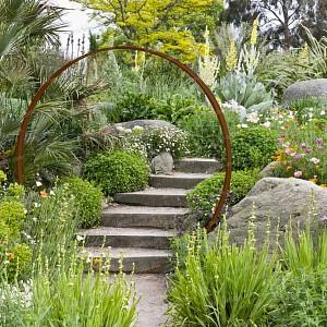 Objets d co de jardin en m tal jardins - Deco jardin metal rouille ...